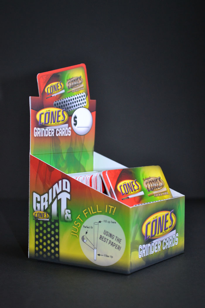Cones Grinder Card Display