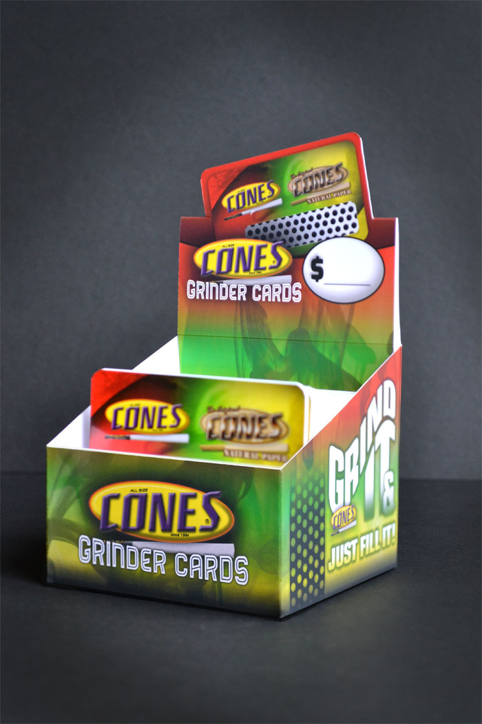 Open Cones Grinder Card Display